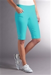 Swing Control Eyelet Masters Golf Short - Blue Curacao