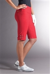 Swing Control Eyelet Masters Golf Short - New Red