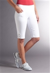 Swing Control Eyelet Masters Golf Short - White