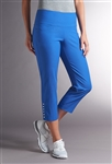 Swing Control Snap Masters Crop Pant - Electric Blue