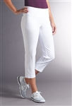 Swing Control Snap Masters Crop Pant - White