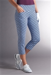 Swing Control Snap Masters Crop Pant - Retro Electric Blue