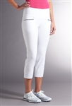 Swing Control Master Contrast Crop Pant - White