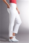 Swing Control Grommet Masters White Ankle Pant