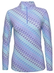 IBKUL Ribbon Candy UPF 50 Sun Shirt - Blue