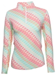 IBKUL Ribbon Candy UPF 50 Sun Shirt - Multi
