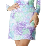 IBKUL Splash UPF 50 Straight Golf Skort - Lavender