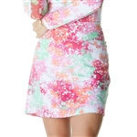 IBKUL Splash UPF 50 Straight Golf Skort - Pink