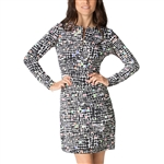 IBKUL Duo Dots Zip Front Dresses