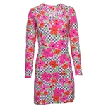 IBKUL Floral Links V-Neck Dresses