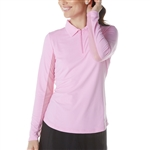 IBKUL UPF 50 Solid Sun Shirt - Candy Pink