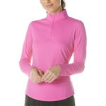 IBKUL Hot Pink UPF 50 Solid Sun Shirt