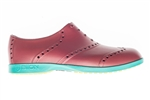 BIION Brights Golf Shoe - Brick Red & Teal