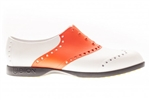 BIION Saddle Golf Shoe - White/Orange