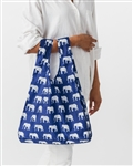 BAGGU Reusable Shopping Bag - Elephant Blue