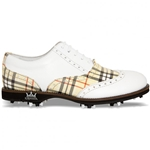 Lambda Leather Golf Shoe - Modena Red/Beige