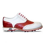 Lambda Leather Golf Shoe - Terni Red Croc
