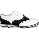 Lambda Venezia Leather Golf Shoe - White/Black