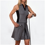 Scratch70 Lizzie Sleeveless Color Blocked Dress - Gray Heather