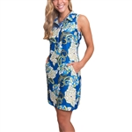 Tee2Sea Royal Classic Golf Dress - Flower Powe