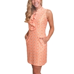 Tee2Sea Sleeveless Ruffle Golf Dress - Sunrise Adventure
