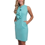 Tee2Sea Sleeveless Ruffle Golf Dress - Seabreeze