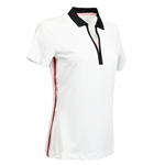 Kate Lord Kaylene Short Sleeve Polo - White
