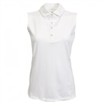 Kate Lord Eden Sleeveless Polo - White