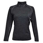 Kate Lord Fairlee 1/2 Zip Top - Black/Carbon