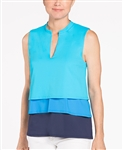 KINONA Cool & Collected Sleeveless Golf Top - Turquoise