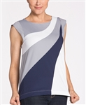 KINONA Make Waves Golf Top - Grey