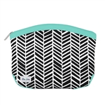 Ame & Lulu Kiss and Makeup Beauty Bag - Black Shutters
