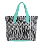Ame & Lulu Land to Sand Beach Tote - Black Shutters