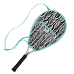 Ame & Lulu Riley Racquet Cover - Black Shutters