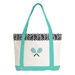 Ame & Lulu Black Shutters Tennis Lovers Tote