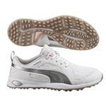 Puma Biofly Mesh Golf Shoe - White/Pink Dogwood