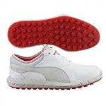Puma Ignite Spikeless Golf Shoe - White/Red Rose