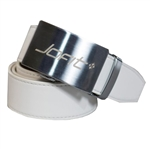 JoFit Contoured White Leather Belt