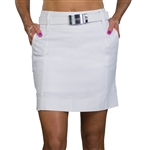 JoFit Elite White Slimmer Golf Skort