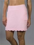 "JoFit Scalloped 18"" Begonia Pink Golf Skort"