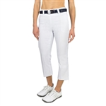 "JoFit Slimmer 24"" Flare Cropped Pant - White"