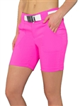 JoFit Belted Golf Short - Fluorescent Pink