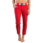 JoFit Belted Cropped Golf Pant - Lipstick