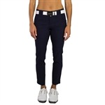 "JoFit Belted 28"" Midnight Cropped Golf Pant"