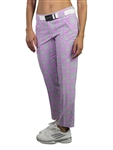 JoFit Belted Cropped Golf Pant - Sangria Plaid