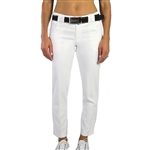JoFit Belted Cropped Golf Pant - White