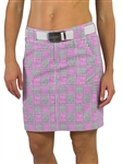 "JoFit Belted 19"" Golf Skort - Sangria Plaid"