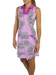 JoFit Wide Placket Golf Dress - Lotus Pixel