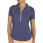 JoFit Tipped Short Sleeve Polo - Bow