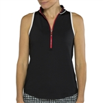 JoFit Tipsy Sleeveless Top - Black